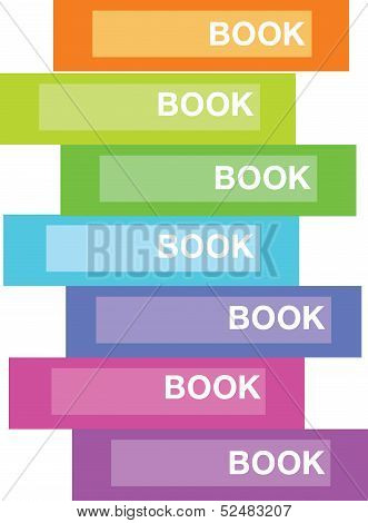 Editable vector illustration of book on a shelf
