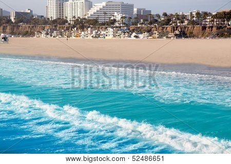 Santa Monica beach view from pier in California USA