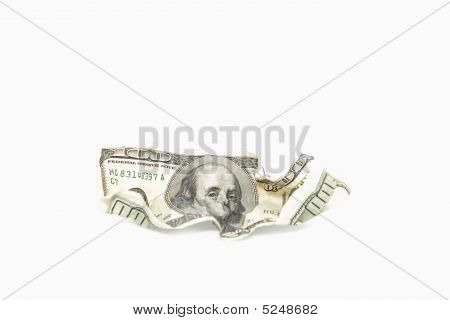 Rumpled Dollar Banknotes
