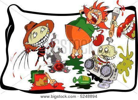 Children-hooligans