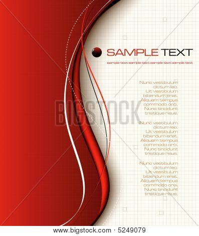 Composición de fondo rojo