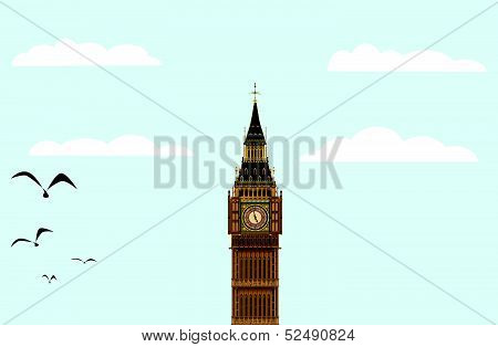 Big Ben Blue Skies