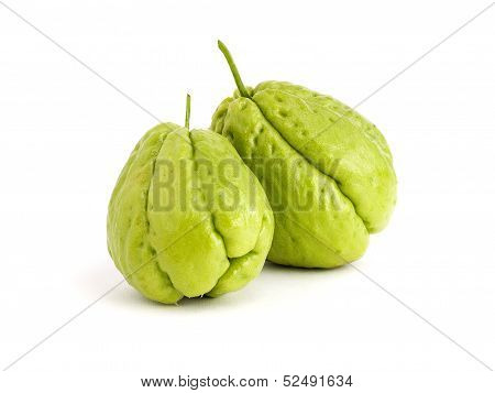 Two Chayote Isolated On White