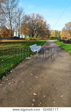 The Urban Landscape Of The Park. Indian Summer