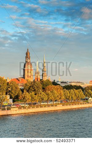 Old Town Riga And Daugava