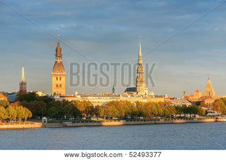 Old Town Riga And The Daugava