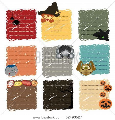 Halloween Stickers Note