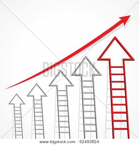 Business graph of arrow ladder stock vector