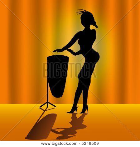 Woman With Timpani