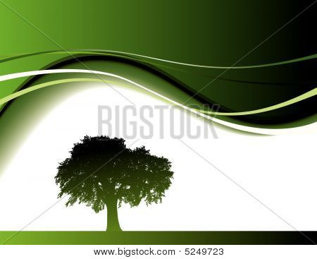 Green Trees With Waves