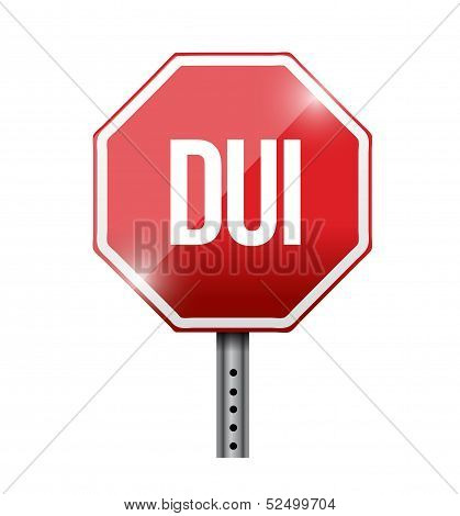 Dui Road Sign Illustration Design