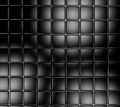 picture of distort  - Frontal image of black shiny tile wall surface background - JPG
