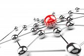 stock photo of intranet  - Internet and networking concept  - JPG
