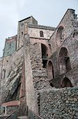 image of torino  - Middle ages abbey in Torino ruins Piemonte attraction - JPG
