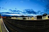 Tonbridge Railway Station, England, Uk, At Dusk