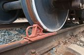 Train Wheel And A Brake Shoe