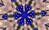 Bright Royal Blue Shadows On Soft Red Brick Kaleidoscope poster