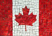 image of significant  - Canadian Flag in Mosaic at the Korean War Memorial - JPG