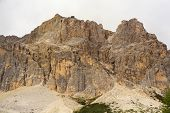 foto of piccolo  - View of Piccolo Lagazuoi from Passo Falzarego - JPG
