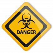 picture of organism  - Vector illustration label biohazard - JPG