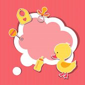 pic of baby duck  - Background photo frame with little cute baby duck - JPG