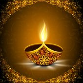 image of diwali lamp  - Indian festival of lights - JPG