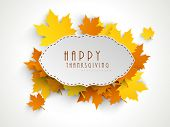 stock photo of thanksgiving  - Happy Thanksgiving sticker - JPG