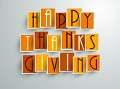 stock photo of happy thanksgiving  - Colorful sticker - JPG