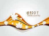 image of happy thanksgiving  - Happy Thanksgiving background with maples leaves - JPG