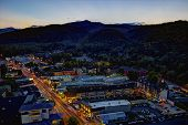 image of gatlinburg  - High Dynamic Range image of downtown Gatlinburg Tennessee viewed from above at night - JPG