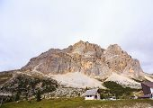 image of piccolo  - View of Piccolo Lagazuoi from Passo Falzarego - JPG