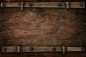 image of cowboy  - announcement wood with free space for multipurpose - JPG