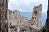 picture of torino  - Middle ages abbey in Torino ruins Piemonte attraction - JPG