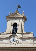 picture of prime-minister  - Clock of Palace Montecitorio headquarters of the Italian Parliament in Rome - JPG