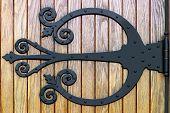 Ornate Wrought Iron Doorhinge