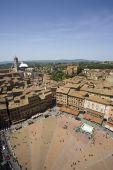 Piazza del Campo At Siena, Tuscany, Italy