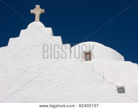 Orthodox Church In Mykonos,greece