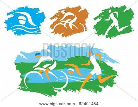 Triathlon_grunge_symbols