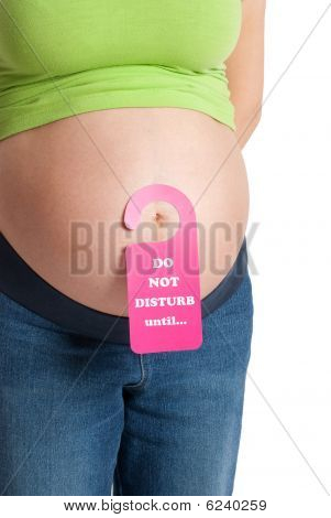 Pregnant Belly With Door-sign
