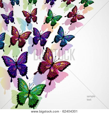 Butterflies design background.