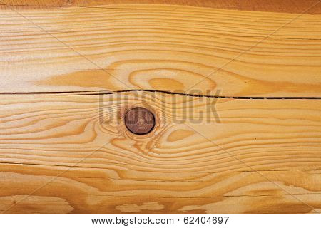 wooden board with veins exposed