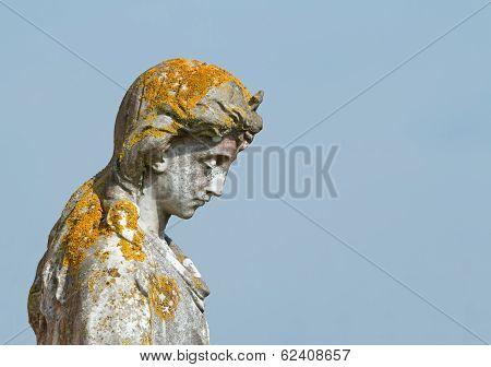 Statue With Lichen