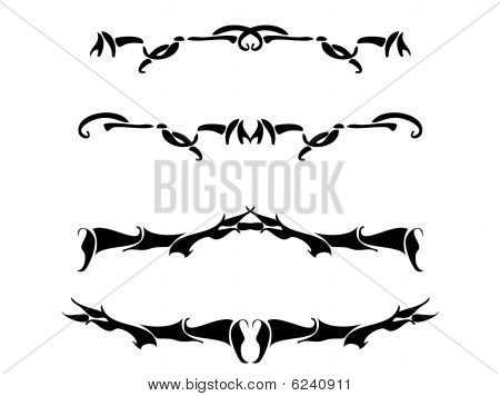 Black Abstract Design Set
