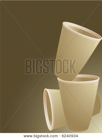 Brown Paper Cup Background