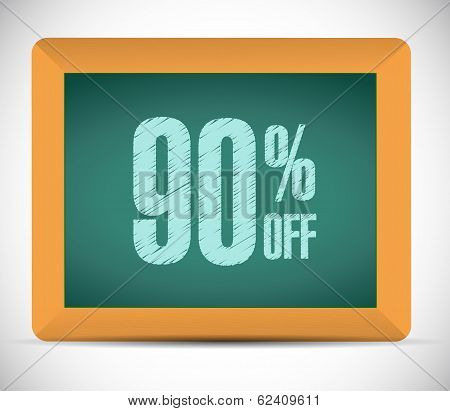 90 Percent Discount Message Illustration