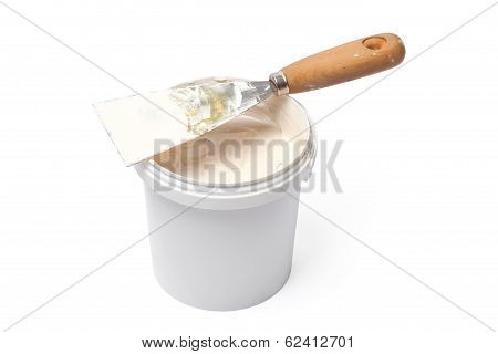 Plaster And Spatula - Stock Photo