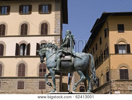 equestrian statue Florence Italy