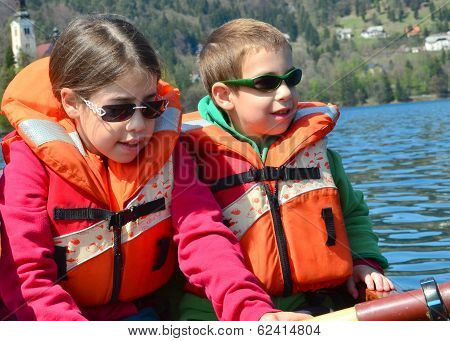 Brother And Sister On A Boat