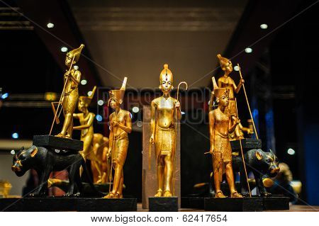 Egyptian pharaoh figures