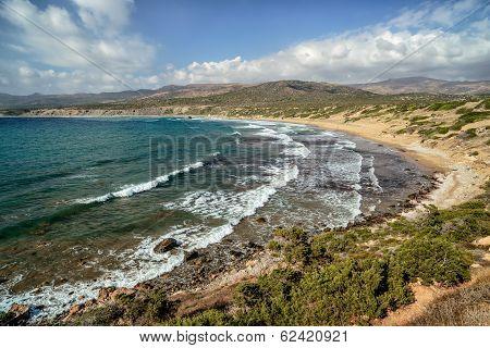 Coast Of Akamas Peninsula On Cyprus